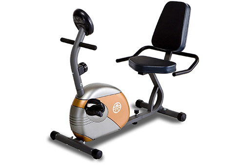 Recumbent Exercise Bike with Cushioned Seat ME-709, by MARCY