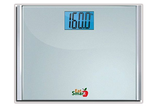 EatSmart Precision Plus Digital Bathroom Scale with Ultra- Wide Platform, 440 Pound Capacity