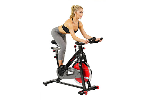 Belt Drive Grey Indoor Cycling Bike SF-B1002 by Sunny Health and Fitness
