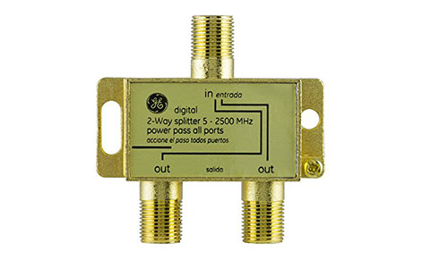 GE Pro Digital 2-way coaxial splitter