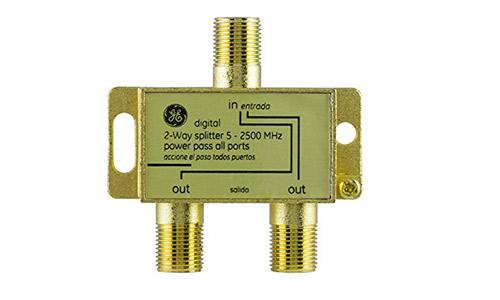 GE Pro Digital 2-way coaxial splitter