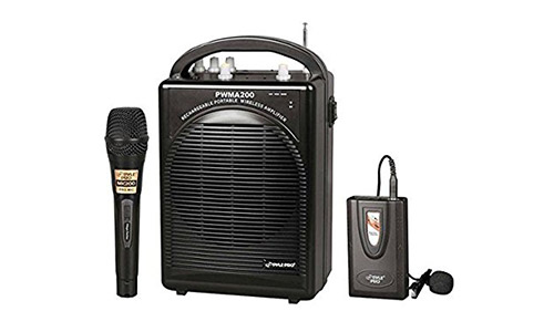 Pyle Wireless Microphone PA Speaker System