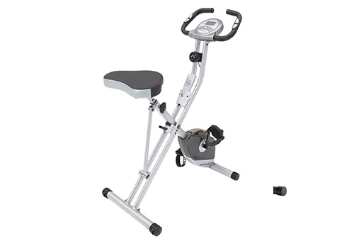 Exerpeutic presents Magnetic Upright Bike with Pulse Monitoring, Folding Design