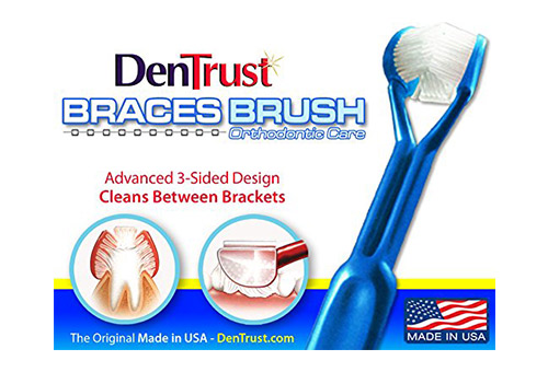 The Original 3-Sided DenTrust Toothbrush for Braces (Pack of 6)