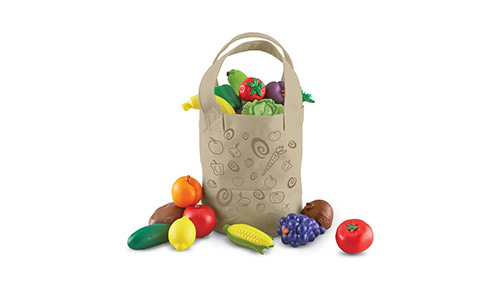 The Learning Resources Fresh Picked Fruit and Veggie Tote