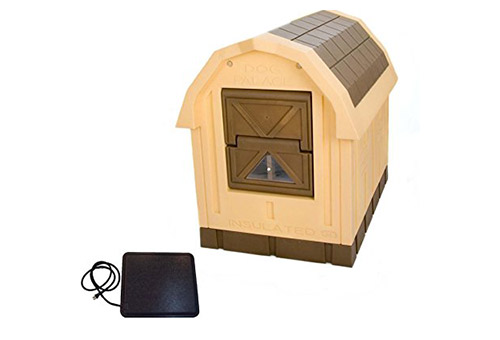 ASL Solutions Deluxe Insulated Large Dog Palace with Floor Heater