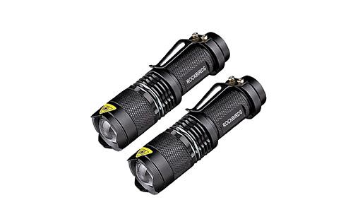 RockBirds LED Flashlights, Bright 3 Modes Small Aluminum Flashlight