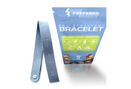 Mosquito repellant bracelet for kids and adults with natural Citronella.