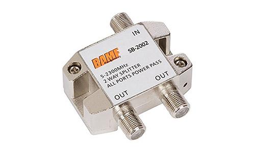 BAMF 2-Way Coax cable splitter bi-directional Mo CA 5-2300MHz