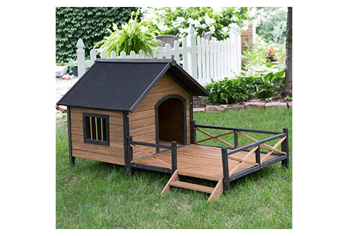 Boomer & George Large Dog House Lodge with Porch