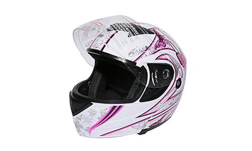 XFMT Pink Butterfly Modular Women Motorcycle Helmet
