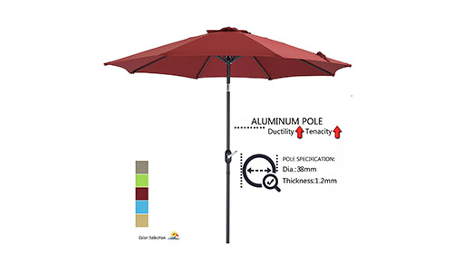 Patio Watcher 9-Ft Aluminum Patio Umbrella