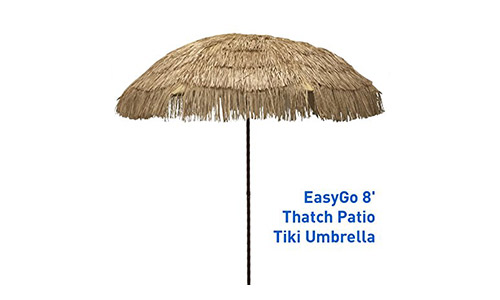 Easy Go Thatch Patio Tiki Umbrella
