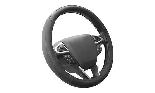 SEG Direct Black Microfiber Leather Car Steering Wheel Cover