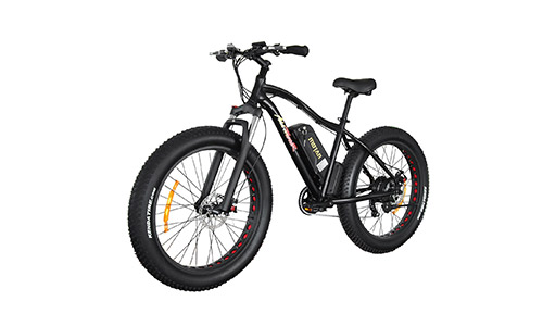 Addmotor MOTAN Electric Mountain Bike Fat Tire 10.4AH Lithium-Ion Battery 48V 500W Bicycles Shimano 7 Speeds TX55 Gears M-550 E-bike(Black)