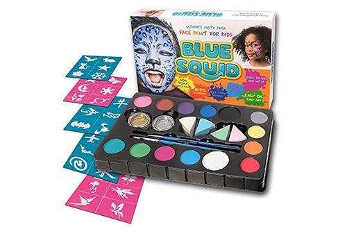 Blue Squid Face Paint Kit