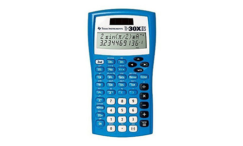 Texas Instruments Blue Scientific Calculator