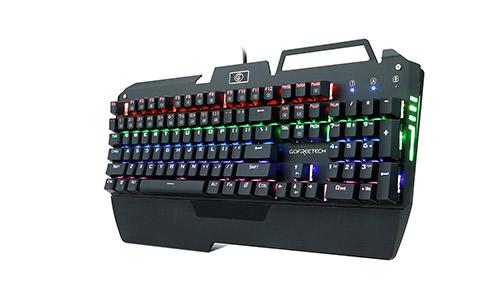 KrBn Mechanical Keyboard PC Gaming Multicolor Full Size Backlit Ergonomic Phone Holder 2021 Newest