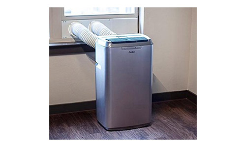 Avallon 12,000 BTU Dual Hose Portable Air Conditioner - Platinum and Slate Grey