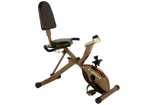 Exerpeutic GOLD Recumbent Exercise Bike 400lbs, Folding 525XLR