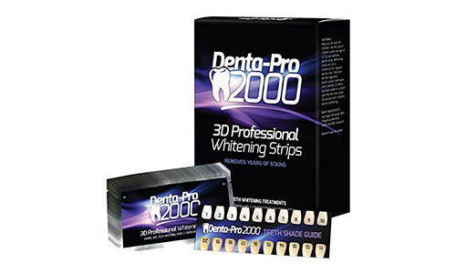 DentaPro2000 At Home Professional Teeth Whitening Strips - 28 Count - Begin Seeing Results Instantly