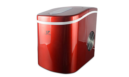 T Yong Tong Countertop Portable 26 lbs Red Ice Maker