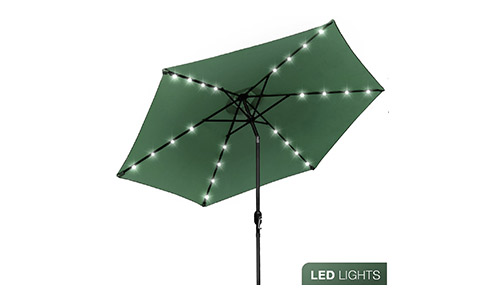 Sorbus LED Outdoor Umbrella