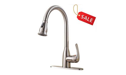 Hotis Pull Down Sprayer Kitchen Sink Faucet