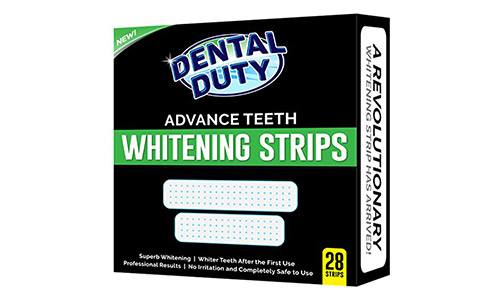 Dental Duty Teeth Whitening Strips - Pack Of 28 - for Upper and Lower Teeth