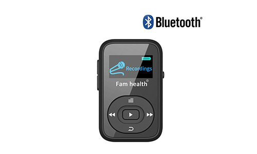 Fam-health 8GB Portable Sport Clip Bluetooth MP3 Player with Lossless Sound and Expandable Micro SD Card up to 64GB for Jogging Running 2019 NEW VERSION (Black)
