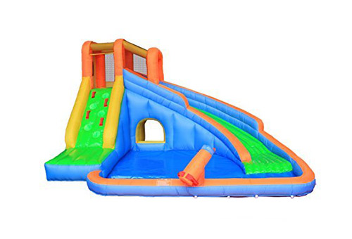 Retro jump inflatable water slide