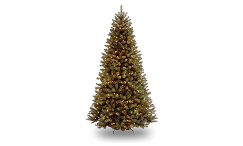 National Tree 5 Foot North Valley Spruce Tree with 550 Clear Lights, Hinged (NRV7-300-75)