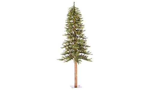 Vickerman 300-Piece Natural Alpine Tree with 921 Tips Set, 7-Feet by 5-Inch, Clear