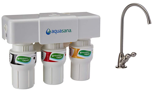 Aquasana presents 3-Stage Under Sink Water Filter with Brushed Nickel Faucet