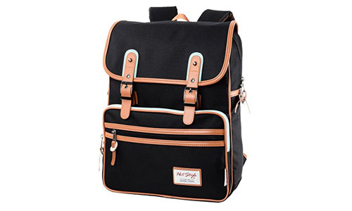 Hotstyle Vintage Flap College Backpack