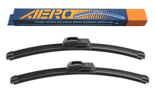 Aero premium windshield wiper blades- twenty four inches + eighteen inches