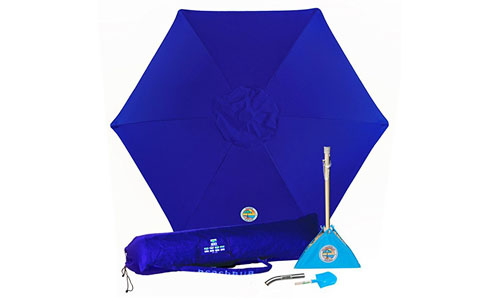 BEACHBUB'S BEACH FLY-AWAY HASSLE FREE UMBRELLA: