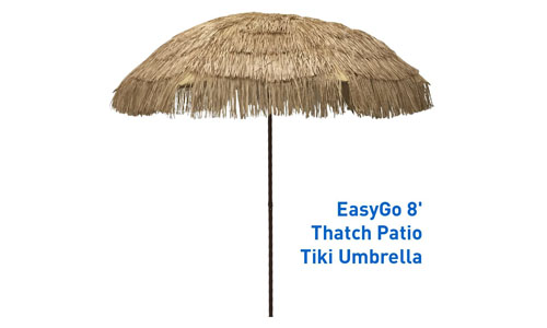 EASYGOPRODUCT'S TIKI UMBRELLA WITH ECO-FRIENDLY CANOPY: