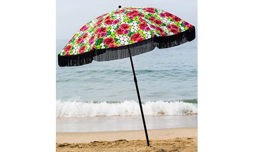 BEACHBRELLA'S BOHO CHIC STYLE VINTAGE BEACH UMBRELLA: