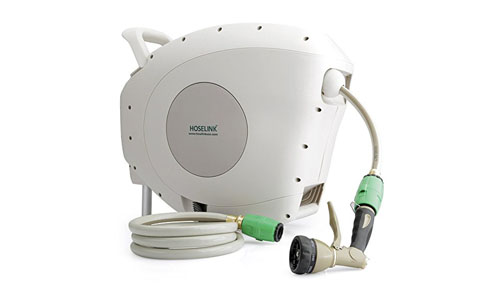Hose link automatic retractable garden hose reel