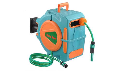 Yescom sixty five feet auto rewind garden water hose reel