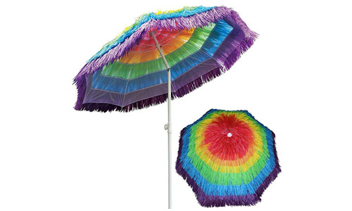 AMMSUM'S NYLON STRAW AND HAWAIIN THATCH UMBRELLA: