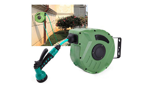 Zinnor retractable auto hose reel