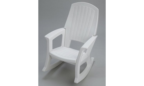 Semco Plastic Company Inc presents 600 lbs Capacity Outdoor Rocking Chair, White
