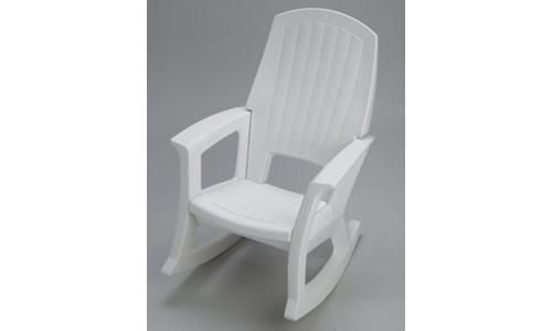 Semco Plastic Company Inc presents 600 lbs Capacity Outdoor Rocking Chair, White