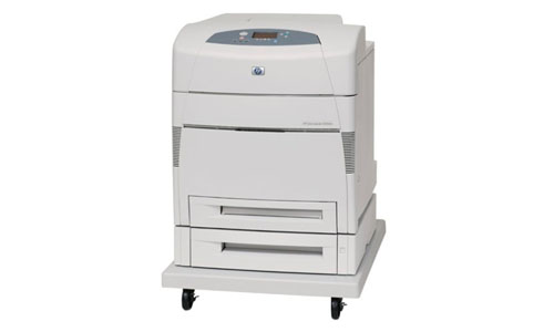 HP Color LaserJet 5550DTN Printer white