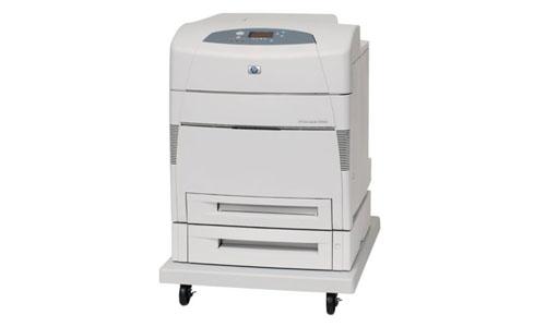 HP Color LaserJet 5550DTN Printer white
