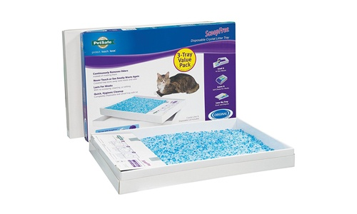 PetSafe presents ScoopFree Pack of 3 Litter Box Tray Refills with Blue Crystals