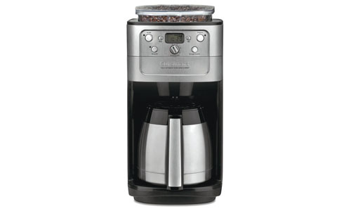 Cuisinart presents Grind & Brew 12-Cup Fully Programmable Thermal Coffee Maker Grinder DGB-900BC
