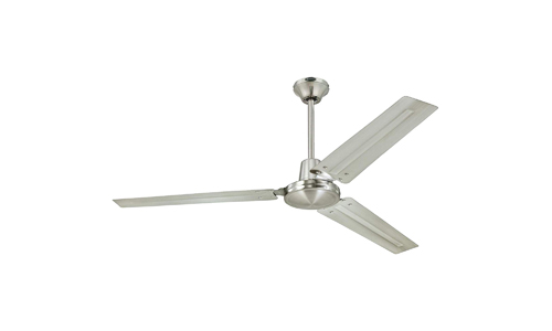 Westinghouse presents 56-inch Three Blade Industrial Indoor Ceiling Fan with Brushed Nickel and Brushed Nickel Blades